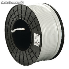 Coax Cable On Reel Rg6 7.06 Mm 100 m White
