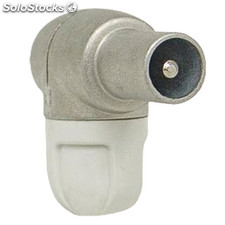 Coax Connector Male Pvc White
