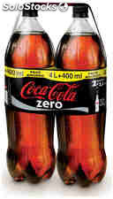 Coca-cola zero pack de 2 botellas de 2 l