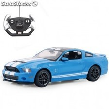 Coche R/C Ford Shelby GT500 azul 1:14 27Mhz