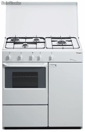 Cocina blanca gas butano 85x50 aspes 4ca40p but 4 gas for Cocina de gas con horno electrico