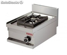 Cocina industrial a gas 1 fuego de 6kw 400x600x265h mm GS604 ARISCO