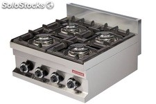 Cocina industrial a gas 4 fuegos de 3,6 kw 600X600X265h mm GC606 ARISCO