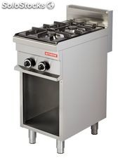 Cocina industrial a gas modular 2 fuegos 6+6 kw 400X700X900h mm GR711 ARISCO