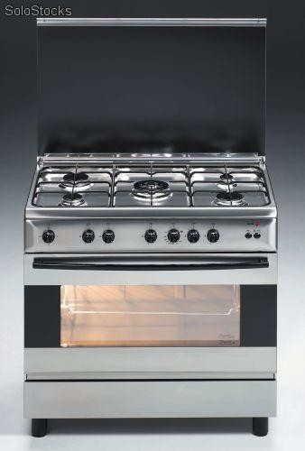 cocina inox a gas 90x60 fagor 3cf 950 x but 5 gas tapa