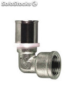 "Codo terminal hembra 16X2 mm - 1/2"" press fitting"