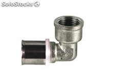 "Codo terminal hembra 32X3 mm - 1/2"" press fitting"