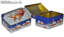 Coffret de noel metal refermable