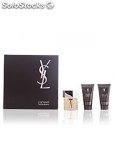 Cofre yves saint laurent l'homme men edt 100 ml+gel ducha 50ml+after shave 50ml