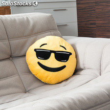 Cojín Emoticono Cool, ideal como elemento decorativo, suave, agradable al tacto,