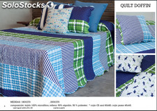 Colcha bouti quilt dolfing reversible