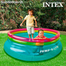 Colchoneta Hinchable Saltimbanqui Intex, base de doble capa, soporta hasta 54