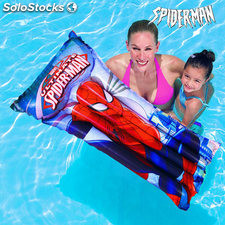 Colchoneta Hinchable Spiderman, ideal para playa o piscina, dispone de 2