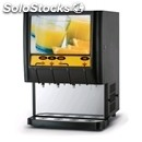 Cold drink dispenser - mod. fresh juice 3w - n. 3 flavours + water - capacity lt