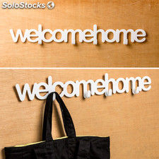 Colgador de pared welcome home