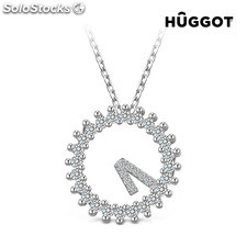 Colgante de Plata Esterlina 925 con Zirconitas Only One Hûggot (45 cm)