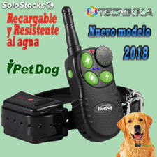 Collar adiestramiento para perros ipetdog iT828. Recargable y sumergible.