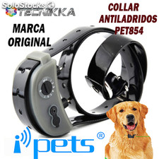 Collar antiladridos adiestramiento PET854 IPETS. Recargable y sumergible