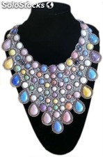 Collar de piedras multicolor rf. Ex-130