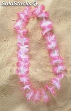 Collar hawaiana luminoso rosa