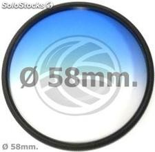 Color photography gradual blue filter lens of 58 mm (EF83)