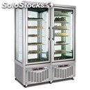 Combi upright display fridge - mod. tutto show d 800 - capacity lt. 420 + 420 -