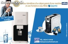 Combo-deal (location machine lavazza + fontaine a eau columbia)