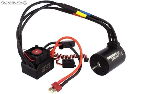 Combo motor y variador para coche 1:10 Brushless RC