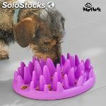 Comedero interactivo para mascotas slow food bowl my pet ez