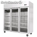 Compact upright fridge - stainless steel - mod. ycf9409 - ventilated cooling -