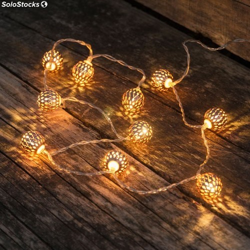 Comprar guirnalda luces decorativas 10 led 120 cm for Luces decorativas jardin