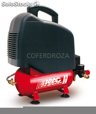 Compresor 1'5HP s/aceite 8 bar abac red 6 l