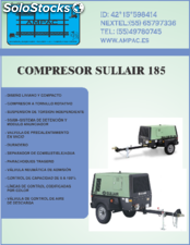 Compresor sullair mod. 185, 750