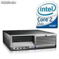 Computador hp dc 7700 sff Core 2 Duo 1800 Mhz com 1024 Mb Ram e 80 Gb hdd, dvd