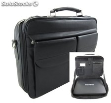 Computer Bag Black Cowhide Leather