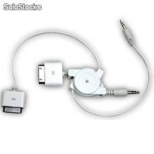 Conector apple a cable de audio jack estereo