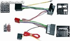 Conector doble ISO varios 2003 >, Parrot ; 15 pines : Bmw , Opel , Seat ; 16