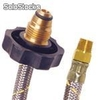 Conector flexible pig tail en acero inoxidable para gas