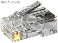 Conector UTP Cat.5e RJ45 macho para crimpar a cable (RH01-0002)