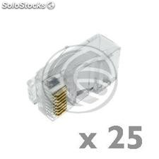Conector UTP Cat.6 RJ45 macho para crimpar a cable 25-pack (RH12)