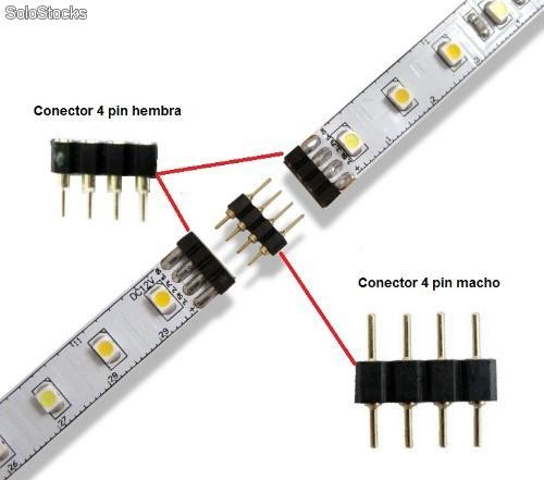 Conectores negro de pin para tiras de led for Conectores tiras led