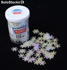 Confetti de table blanc irise