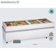 Congelador horizontal glass-top gran volumen 1100chvv eurofred