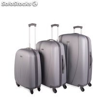 Conjunto de 3 trolleys abs do ritmo marcado Prata