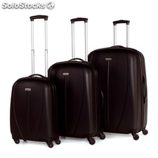 Conjunto de 3 trolleys abs do ritmo marcado Preto