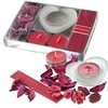Conjunto decorativo y aromatico color rojo