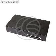 Conmutador LAN switch Gigabit 10/100/1000 Mbps de 5 UTP para rack 19 ""