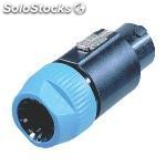 Connector speaker male pvc black
