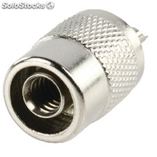 Connector Uhf Male Metal Silver