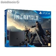 Consola sony PS4 1TB negra + juego final fantasy xv
